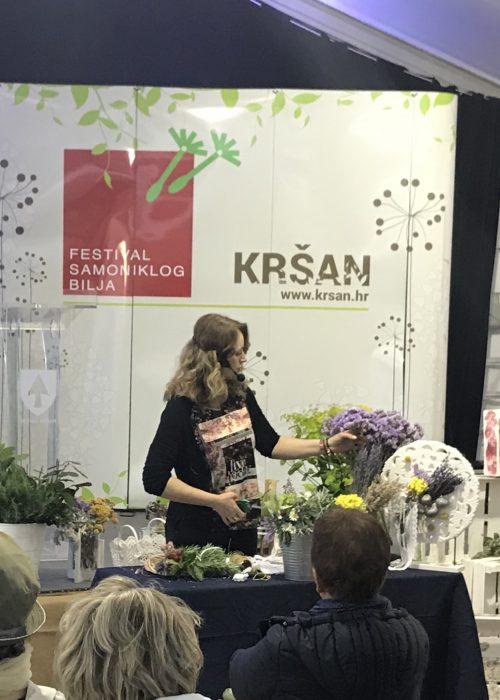 Floressadesign izlaganje na Festivalu samoniklog bilja, Kršan